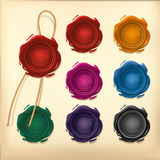 Set of Color Wax seal. Stock Image