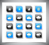 Set of color weather buttons. Stock Photography