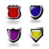 Set of color web buttons Royalty Free Stock Photography