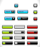 Set of color web buttons Stock Photos