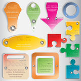 Set of color web elements for design.  Stock Photography