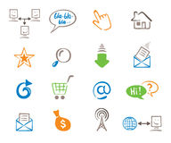 Set color web icons Royalty Free Stock Images
