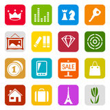 Universal icon set Royalty Free Stock Photography