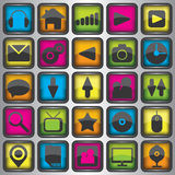 Set of color  web icons Stock Image