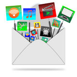 Icons in the envelope Royalty Free Stock Image