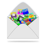 Icons in the envelope Royalty Free Stock Images