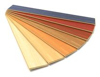 Set of color wooden laminated construction planks Royalty Free Stock Image