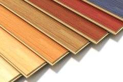Set of color wooden laminated construction planks Stock Photography