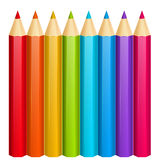 Set of color wooden pencils Royalty Free Stock Photo