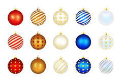 Set of color Xmas balls Stock Photo