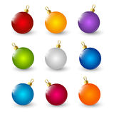 Set of color Xmas balls Royalty Free Stock Photography