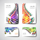 Set of colored abstract backgrounds Stock Photos