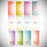 Set Of Colored Abstract Backgrounds. Modern Stock Images