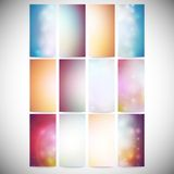 Set Of Colored Abstract Backgrounds. Modern Stock Image