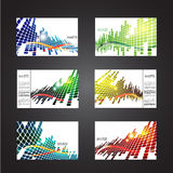Set of colored abstract backgrounds with squares Stock Photo