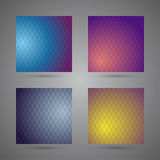 Set of colored abstract backgrounds with triangles Royalty Free Stock Image