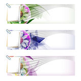 Set colored abstract banner Stock Photography