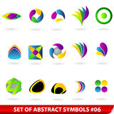 Set of colored abstract symbols. Vector set of colored abstract symbols Royalty Free Stock Images