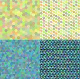 Set of colored abstract transparence mosaic vector. Set of coloured abstract vector backgrounds in light colors Stock Photo