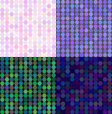 Set of colored abstract transparence mosaic vector. Set of coloured abstract vector backgrounds in light colors Royalty Free Stock Photography