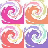 Set of colored abstract twisted textures Royalty Free Stock Photo