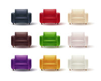 Set of colored armchairs Royalty Free Stock Photos