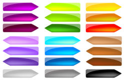Set Colored Arrows Royalty Free Stock Photography