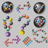 Set of colored arrows of the buttons, vector illustration Royalty Free Stock Photo