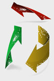 Set of colored arrows icons. Set of 3 colored arrows icons Royalty Free Stock Photography