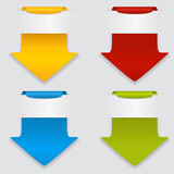 Set of colored arrows. Royalty Free Stock Photos