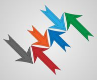 Colored arrows on white background. Royalty Free Stock Images