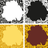A set of colored backgrounds with abstract pattern Stock Photos