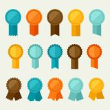 Set of colored badges, labels, awards in flat Stock Photo