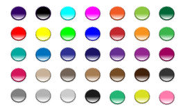 Set of Colored Badges Stock Photography