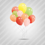 Set of colored ballons Stock Photo