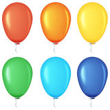Set of colored balloons. Stock Images