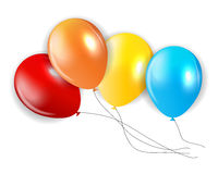 Set of Colored Balloons, Illustration Stock Photography