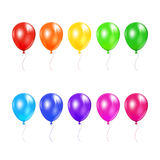 Set of colored balloons. Isolated on a white background, illustration Stock Photo