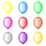 Set of Colored Balloons isolated on white background for Your Design. Vector Illustration. vector illustration