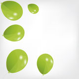 Set of colored balloons, vector illustration. EPS Royalty Free Stock Image