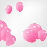 Set of colored balloons, vector illustration. EPS Royalty Free Stock Images