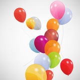 Set of colored balloons, vector illustration. EPS. 10. See my other works in portfolio Stock Photo