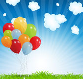 Set of colored balloons, vector illustration. EPS Stock Photo