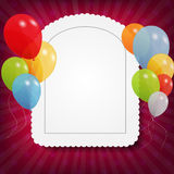 Set of colored balloons, vector illustration. EPS Stock Images