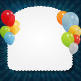 Set of colored balloons, vector illustration. EPS Royalty Free Stock Photo