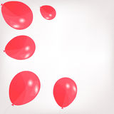 Set of colored balloons, vector illustration. EPS Stock Image