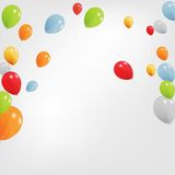 Set of Colored Balloons, Vector Illustration. Royalty Free Stock Photo