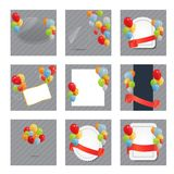 Set of Colored Balloons, Vector Illustration. Stock Photos
