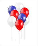 Set of Colored Balloons, Vector Illustration Stock Image