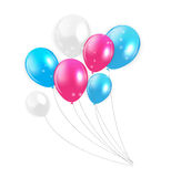 Set of Colored Balloons, Vector Illustration Royalty Free Stock Image